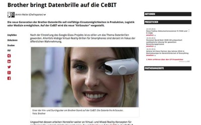 Linktipp: Brother bringt Datenbrille auf die CeBIT