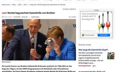 Linktipp: Merkel begutachtet Datenbrille von Brother