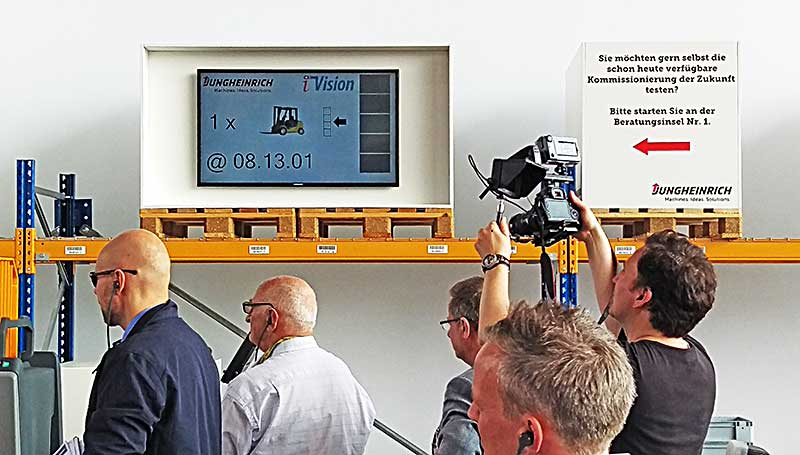 We presented our iVision solution successfully at the CeMAT in Hanover together with Jungheinrich